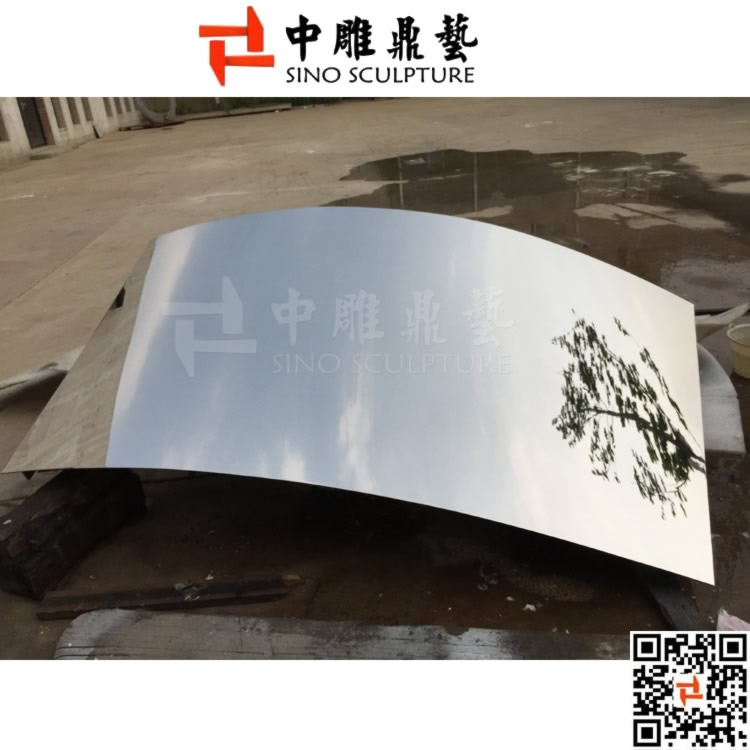 Hyperboloid Mirror Stainless Steel Cladding Panel ,curved