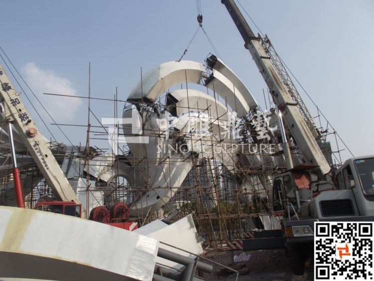 Stainless steel urban sculpture for chongqing city city for Sichuan cendes architectural design company limited