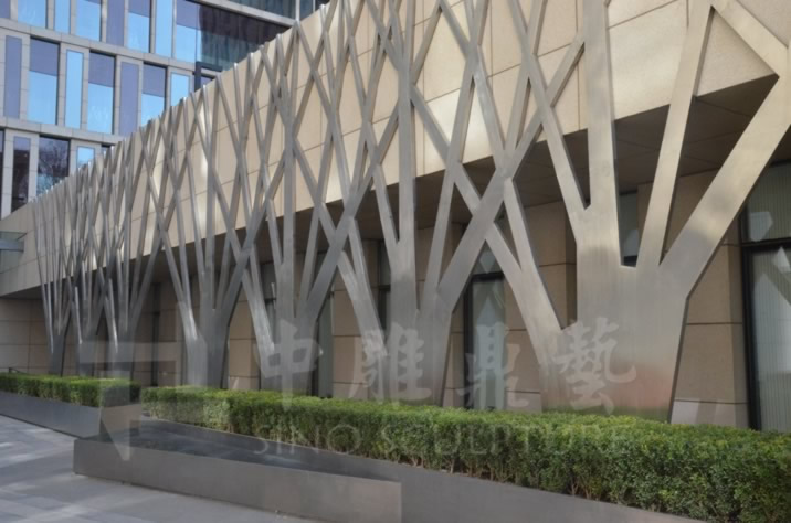 Curved Stainless Steel Facade China Special Shape