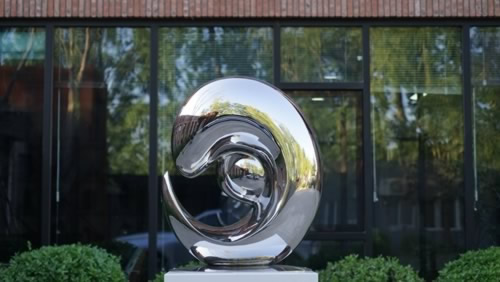 stainless steel art statue