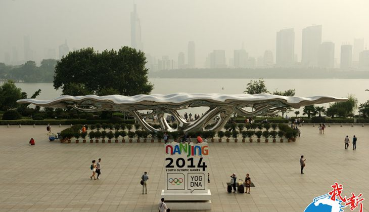 large steel sculpture for Nanjing Train Station