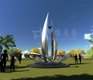C Curved Stainless Steel Sculpture,special Shaped Stainless Steel Artwork