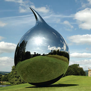 Forged Mirror Stainless Steel Tear Sculpture,UK