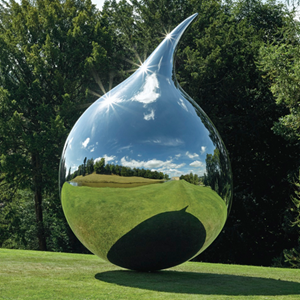 Tear, Mirror Polished Stainless Steel Sculptures