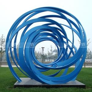 Lacquer coated stainless steel sculpture artwork