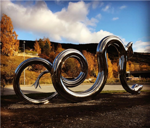 Stainless steel snake sculpture,Norway customized